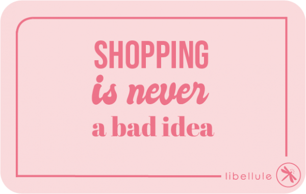 shopping is never a bad idea -carte cadeau