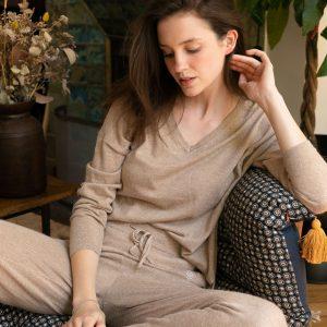 Pantalon Mercure (beige chiné) – La petite étoile